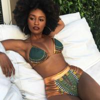African Print Two-Pieces Bath Suits Bikini Set