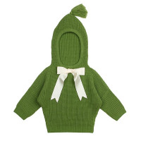 Bowknot Hoodie Knitted Sweater - Happy Little Ones