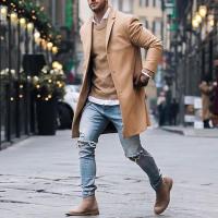 Winter Fashion Men's Trench Long Jackets