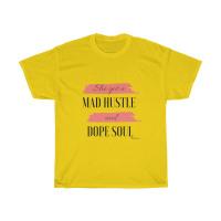 Mad Hustle Dope Soul Tee (Coral/black)