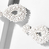 White Bead Drop Earrings - .YourStylish.