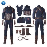 Avengers: Infinity War Captain America Cosplay Suit Full Set