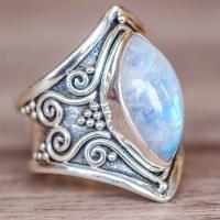 Bohemian Style Moonstone Ring