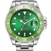 Tevise Divers Sixty-One - Stainless Steele Green Dial