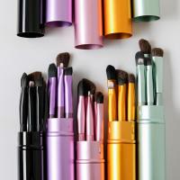 5pcs Premium Travel Portable Mini Eye Makeup Brushes Set - Feminine Perfection