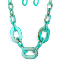 All In-Vincible Blue Necklace Paparazzi