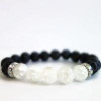 Strength| Quartz & Lava Stone Bracelet