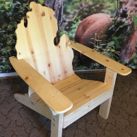 White Pine Michigan Adirondack Table