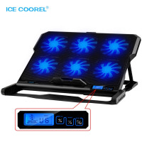 ICE COOREL's 2 USB Ports and Six Cooling Fan - Laptop Cooling Pad for 12-15.6 inch