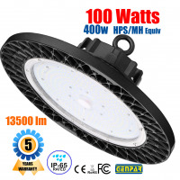 GENPAR 100W UFO LED High Bay Light 400W HPS/MH Equivalent 13500LM lumens Daylight White 6000-6500K IP65