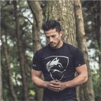 2018 Brand men T-Shirt Fitness Slim fit Shirts Crossfit Short sleeve Cotton clothes Fashion Leisure O-Neck ALPHALETE printed Tee