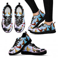 Chicken Lovers Womens Sports Shoes (Black) - Sports Shoes