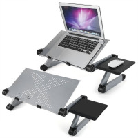 Ergonomic Aluminum Laptop Desk Portable Adjustable  Stand Table Vented