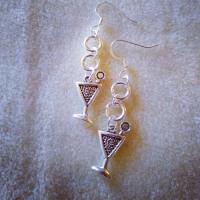 Handmade Martini Glass Libation Earrings