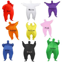 Adult Club Suit Inflatable Suits Air Blow Up Blue Green White Purple Color Full Body Halloween Party Cosplay Costume Jumpsuit