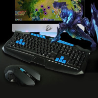 2.4Ghz Wireless Game Mouse and Keyboard Combo For Desktop pc Laptop Computer, High Sensitivity Gaming Mouse and Keyboard Set