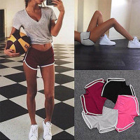 2019 Summer Road Shorts  Elastic Waist All-match Loose Solid Soft Cotton