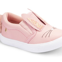 Bibi - Pink Leather Bunny Shoe - La Stupeur