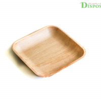 PACK OF 25 PLATES | | SQUARE 15 CM | COMPOSTABLE | ECO-FRIENDLY | MADE FROM PALM LEAF| BIODEGRADABLE - DISPOSABLE GREEN