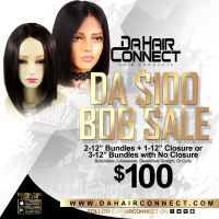 "DaHairConnect BoB Sale (2) 12'' Bundles & (1) 12"" Closure"