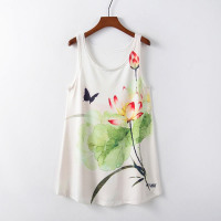 Fashion Women T Shirt Floral Print