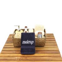 "100% Genuine Turkish Cotton ""Makeup"" Embroidered Washcloths - Set of 6"