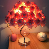 Flower Shade Lamp Valentines Holiday Lover's Gift