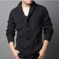 Autumn Wool Cashmere Grey Knitted Cardigan - Barbaric Gentleman