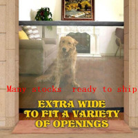 Dog Gate Mesh Magic Pet Gate For Dogs Safe Guard and Install Pet Dog Safety Enclosure