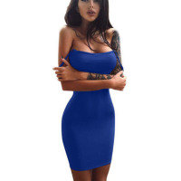Womens Sleeveless Casual Solid Mini Dress