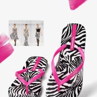 Zebra Stripes Original Hotmarzz Woman Flip Flops with 3D Pring New Slim Fashion Beach Sandals All Size Color - Hotmarzz Flip Flops