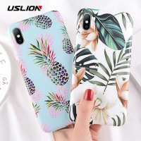 Cartoon-Style Pineapple/Leafy Green Fitted Case - Such Accessories