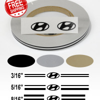 Stripe Kits for Hyundai avail in 3 colors and 3 stripe configurations