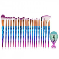 Ritzy Mermaid 21 PCS Makeup Brush Set