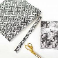black lattice gift wrap