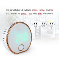 PM2.5 Detector Digital Air Quality Monitor Indoor Haze Dust PM2.5 Meter Detector Air Monitor Air Particle Counter HT-403