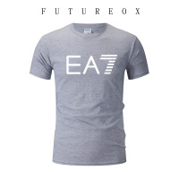 2019 Men Fashion Designer Casual EA7 Tee Shirts Hip Hop T Shirt Unisex Cotton Short Sleeve Tee Shirts Leisure T-shirt