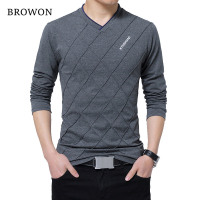 BROWON Men T-shirt Slim Fit - Clothably