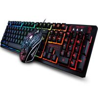 104 Keys Gaming Keyboard Mouse Rainbow LED Backlit Mechanical Feeling Keyboard Pro Gaming Keyboard and Mouse Combo