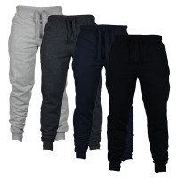 Mens Fashion Autumn Joggers Solid Color Casual Drawstring Sweatpants Trousers