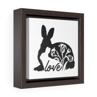 Bunny Love Square Wrap Canvas