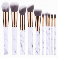 Professional 10pcs Marble Makeup Brushes Set