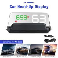 "4.3 ""LCD Digital HUD Display GPS Head High Visualization Altitude Time Travel Speed Alarm"