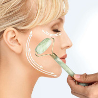 Facial Massage Jade Roller Face Body Neck Nature Beauty Device