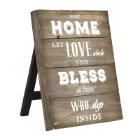 """""""In Our Home Let Love Abide And Bless All Those Inside"""" Table Top"""