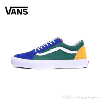 Fear of God Brand Vans Old Skool Classic Men Women Canvas Sneakers Black White YACHT CLUB Red Blue Fashion Trainers Skate Casual Shoes