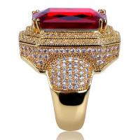 Red Rhinestone Cubic Zirconia Ring