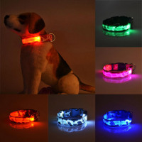 Night Flash Pets Dog LED Collar Adjustable Puppy Collar Dog Collars Necklace Electric  Pet Supplies Acessorios #820
