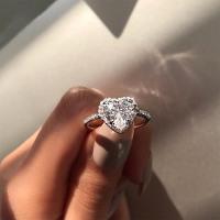 Crystal Heart Shaped Ring - Apparel Horizon