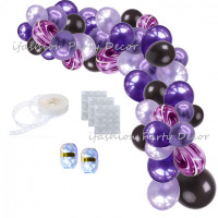 Black and Purple Balloon Garland Kit for Vampirina Party Hotel Transylvania Party Black Friday Party Wedding Halloween Party